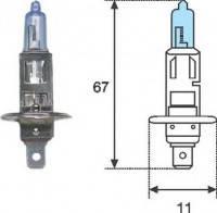Галогеновая автолампа Magneti marelli H1, P14, 5s, Голубой свет