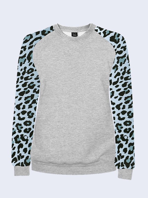 Женский свитшот Синий леопард