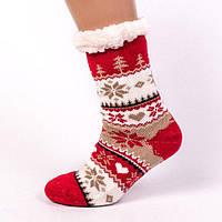 Домашние полушерстяные тапочки-носки.