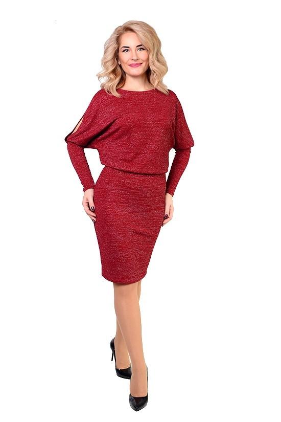 Интересное женское платье с люрексом
