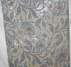 Дивандеки на большой диван и два кресла Орхидея голубой, фото 2