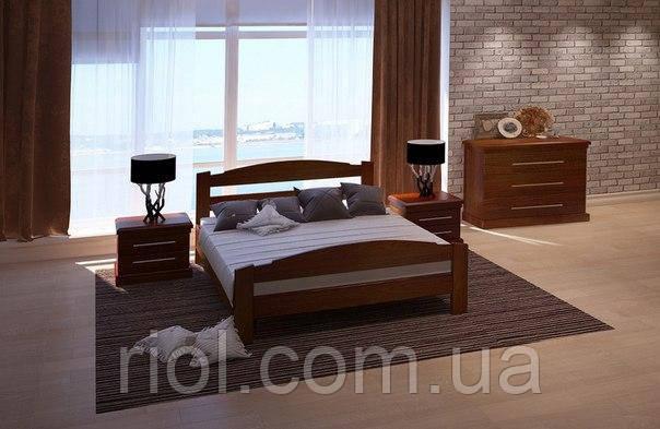 Кровать из массива дуба Арт-4 двуспальная
