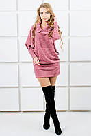 "Платье-туника из ангоры ""Шерли""  р. 44-54 розовый"