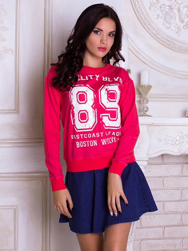 Женский свитшот 89 розовый