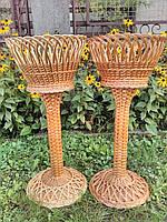 Плетеная ваза на ножке