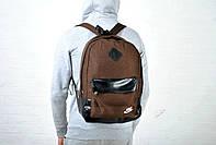 Коричневый спортивный рюкзак, тканевый реплика, фото 1