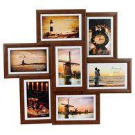 Мультифоторамка m collage-0708 коричневая на 10x15 см для 7 фотографий