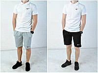 Летний костюм найк (Nike), футболка поло и шорты реплика