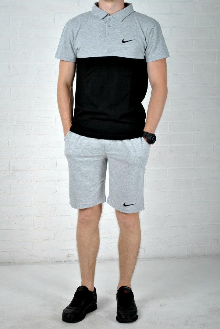 8b8456da Трикотажные мужские шорты и футболка поло найк (Nike) реплика купить ...