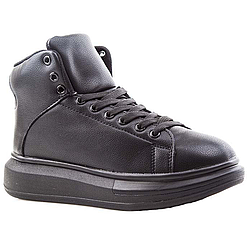 Кеды зимние Vintage SK502-1 Чёрные Black (36-40)