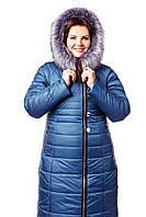 Пуховик женский зимний с капюшоном  размеры от 48 до 62