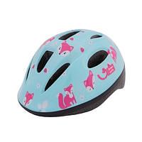 Шлем детский Green Cycle Foxy размер 50-54см мятный/малиновый/розовый