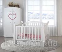 Кроватка Angelo Lux-1 маятник/ящик white