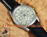 Мужские наручные часы Patek Philippe Quartz Date Silver Silver кварцевый японский механизм