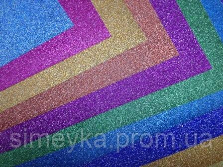Бумага клеевая металлик, набор 10 листов А4 разного цвета