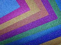 Бумага клеевая глиттерная (металлик), набор 10 листов А4 разного цвета