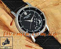 Женские наручные часы Patek Philippe Quartz Медведица Silver Black кварцевый японский механизм
