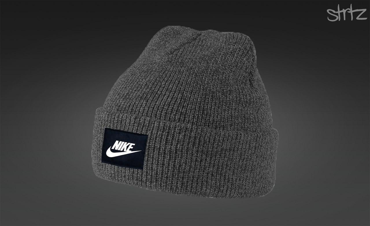 29841e85 Серая мужская/женская зимняя шапка найк/Nike купить в интернет ...