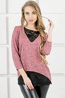 Свитшот Olis Style Сибела (44-52) розовый