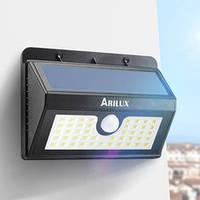 Светодиодный светильник ARILUX 8 Led 3 режима на солнечной батарее с датчиком движения