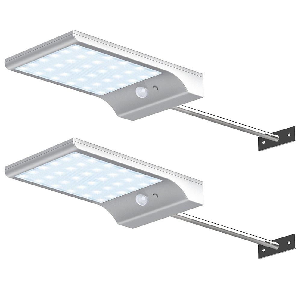 Светильник на солнечной энергии на опоре 3 режима 36 LED c датчиком движения