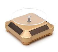 Столик для презентаций вращающийся на солнечной батарее золото
