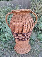 Плетеная ваза из цельной лозы, фото 1