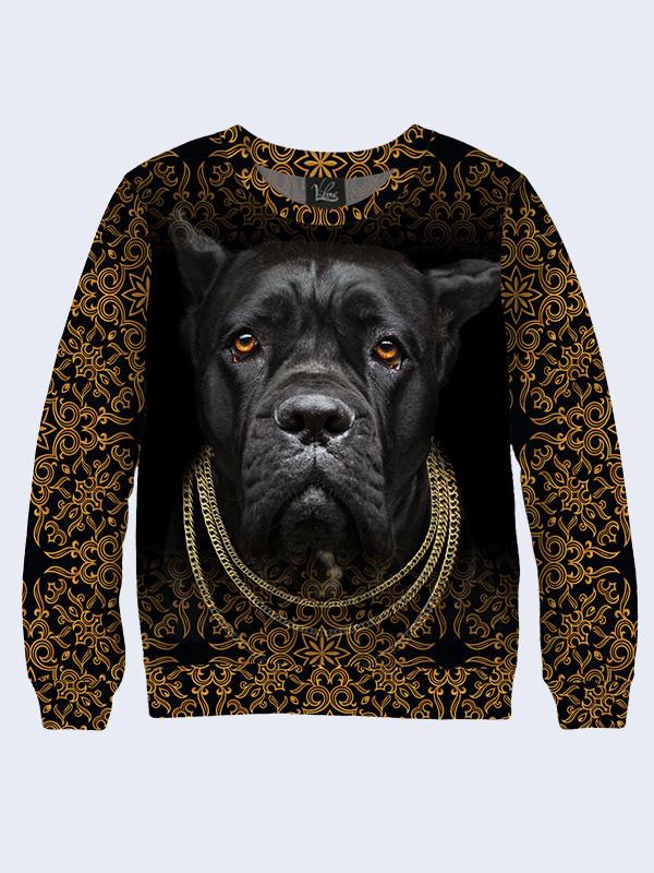 Женский свитшот Чёрная собака