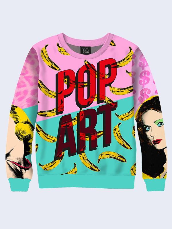 Женский свитшот Pop art banans