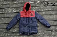 Яркая Мужская зимняя куртка/парка/пуховик адидас (Adidas Originals) реплика