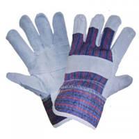 Перчатки рабочие комбинированные х/б+спилок утепленные