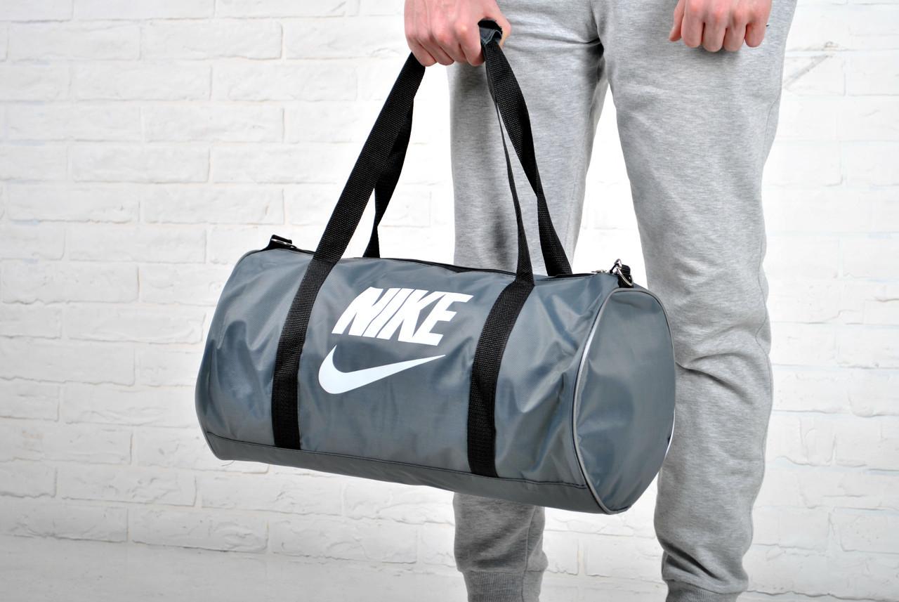 Дорожная сумка найк (Nike), круглая серая купить в интернет-магазине ... 82466a406f8