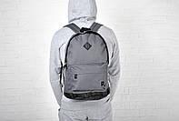 Молодежный рюкзак рибок, Reebok темно-серый реплика