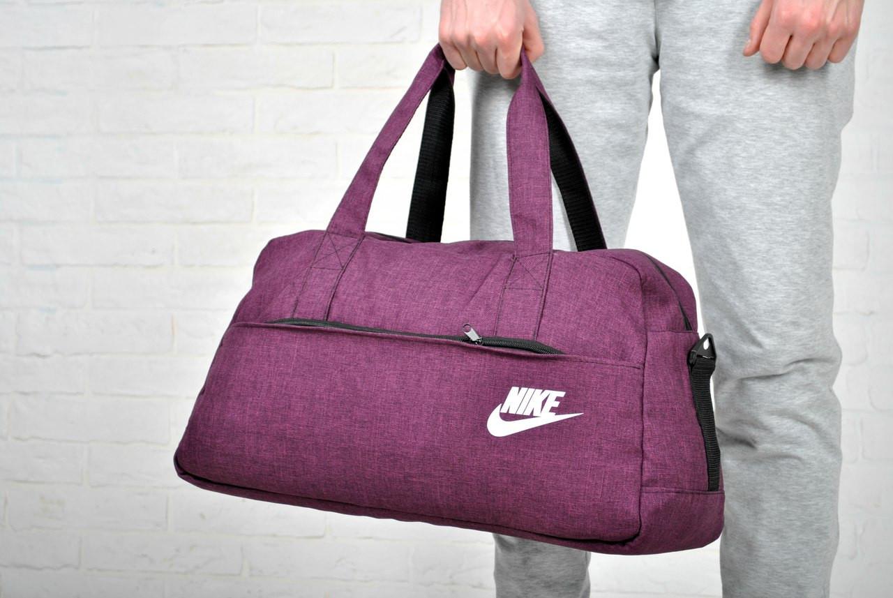 acaa5d55 Модная спортивная сумка найк (Nike) фиолетовая реплика купить в ...