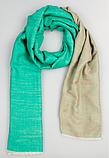 Легендарный кашемировый шарф Chadrin зеленый/бежевый, фото 4