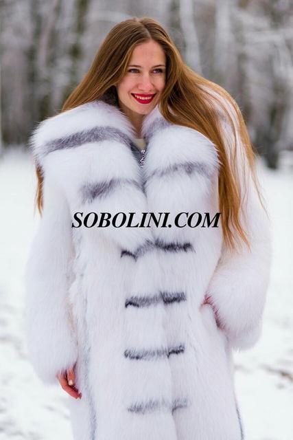 Шуби з полярної лисиці
