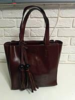 """Женская кожаная сумка """"Grace"""" коричневая"""
