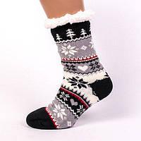 Теплые домашние полушерстяные тапочки-носки с антискользящей поверхностью.