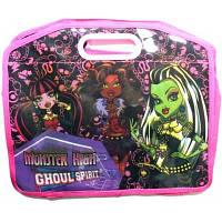 """Папка-портфель детская с пластиковыми врезными ручками """"Monster High"""""""