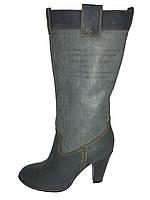Кожаные женские демисезонные стильные модные сапоги Vizzavi