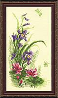 """Набор для вышивки крестиком 232 Триптих """"Полевые цветы"""", 22x41см"""