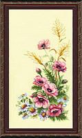 """Набор для вышивки крестиком 231 Триптих """"Полевые цветы"""", 22x41см"""