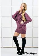 Женское бордовое платье-туника ШЕРЛИ Olis-Style 44-52 размеры