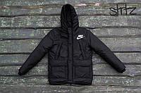 Мужская зимняя черная куртка/парка/пуховик найки/Nike