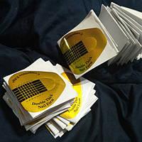 Формы для наращивания ногтей плотные золото, 100 шт.