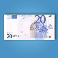 Деньги сувенирные 20 евро - 80 шт