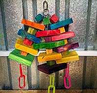 Деревянная игрушка для больших попугаев, фото 1