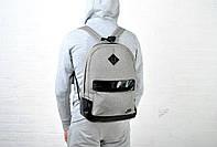 Серый спортивный рюкзак найки (Nike), текстиль реплика, фото 1
