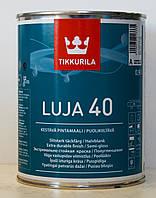 Влагостойкая полуглянцевая экстремально стойкая краска Tikkurila Luja 40, краска Луя 40, База А 0,9л