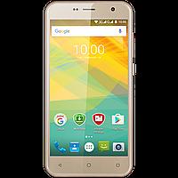 Стильный смартфон 5 дюймов 4 ядра 1/8Gb на 2 сим карты Prestigio Muze B3 золотой